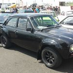 My bro admiring a MK1 Escort at the Classic Ford Show 2014