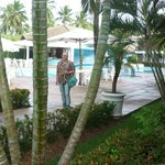 Eu na piscina do Hotel