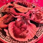 Entrée - assiette de fruits de mer