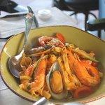 Tagliatelli seafood