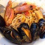 Seafood spaghetti. It's fresh!