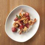 Peppered Shrimp and Balsamic Strawberries (seasonal)