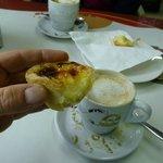 coffee and custard tarts