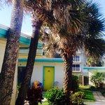 Outside Beach Island cabins