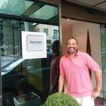 #MercureRiodeJaneiroArpoadorHotel  Standing in front of the hotel