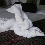 towel art in the rooms