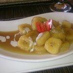banana and palm sugar dessert