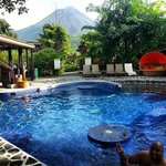 Arenal Volcano and the swim up bar
