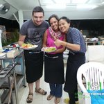 Cooking GOONG (Shrimp) PAD THAI with Tak, our cooking instructo