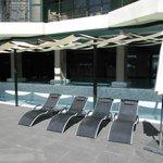 Outdoor/indoor spa pool