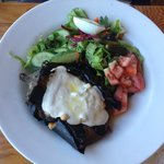 grilled eggplant with fresh cheese