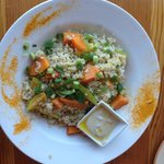 steamed veggies with brown rice