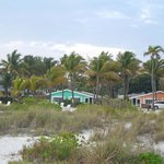View of Lime and Mango cottages from beach