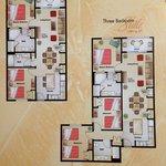 Planta dos apartamentos de 2Q e 3Q