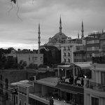 vista dalla terrazza dell'Hotel Byzantium