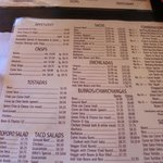 The standard menu--always good
