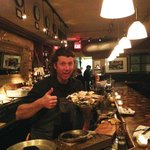 Patrick with a plate of fresh oysters