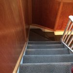Steep rickety stairs - ask for a low room.