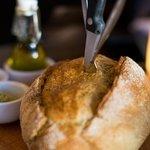 Warm, crusty bread