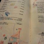 Так стильно оформлено меню - а ля рисуют дети