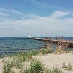 Sodus Pier next to beach