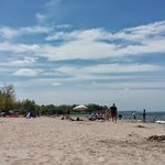 A small portion of the beach on holiday weekend