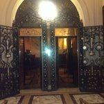 Gorgeous elevators and marble floors.