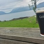 A Guinness with a lovely view!