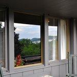Deck of backside room overlooking gorge