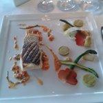Sea bass with asparagus