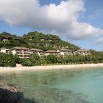 view from punta bunga beach