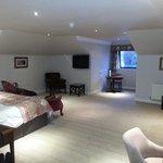 large room but felt sparsely furnished.