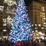 Christmas tree in Pioneer Courthouse Square