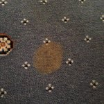 Brown stain on carpet