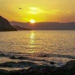 Sunset just a short walk to Mochlos Village