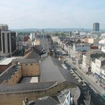Cardiff City Centre from the 10th floor.
