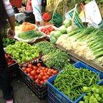 Beautiful fresh produce in local market