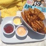 waffle fries poolside