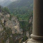 View of Mary's Bridge from inside Neuschwanstein
