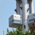 Babies crawling up Zizkov tower