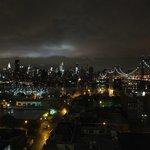 panorama notturno dal tetto