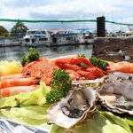 Seafood Platter overlooking the Marina