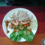 calamars à la plancha + crevettes
