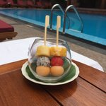 complimentary fruit by the pool