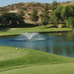 Golf Course pond with fountain