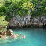 swimming in the Blue Hole