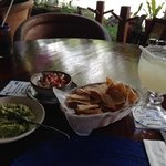 amazing margarita chips and guacamole