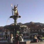 Estatua homenaje al Inca en el Centro de Cusco