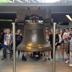 backside of the liberty bell