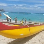the canoe on Waikiki
